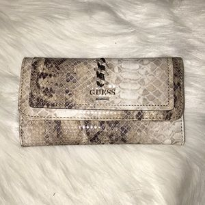Guess Snakeskin Trifold Wallet